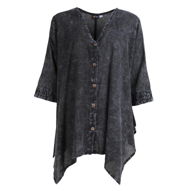 Button Up Smock Top