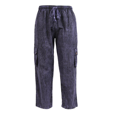 Stone Washed Cargo Trousers