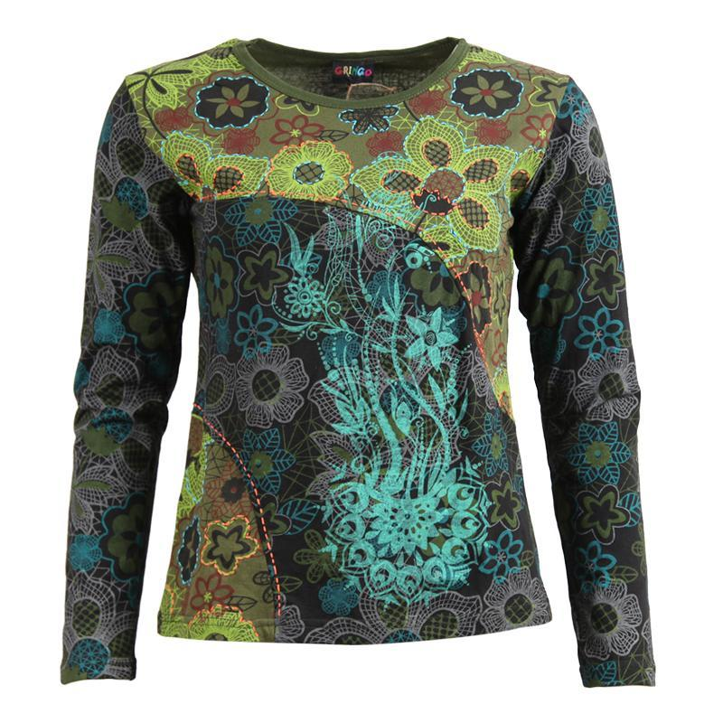 Long Sleeve Embroidered T-Shirt