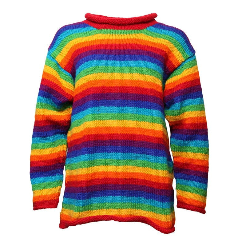 Men's Relaxed Rainbow Wool Jumper