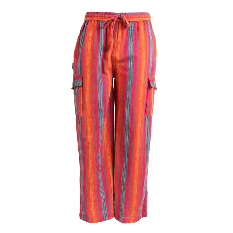 Men's Cargo Kantha Stitch Trousers
