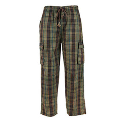 Madras Check Cargo Trousers