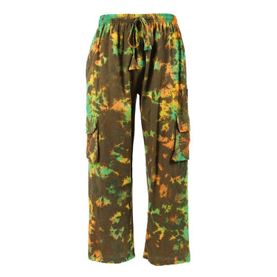 Men's Tie Dye Cargo Trousers