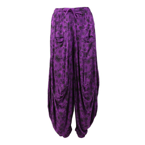 Spiral Pattern Balloon Harem Pants