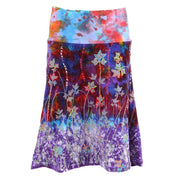 Purple Tie Dye Velvet Skirt