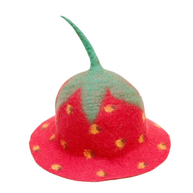 Strawberry Festival Felt Hat