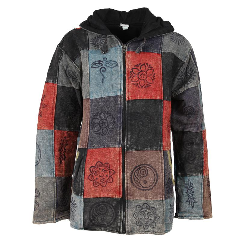 Patchwork Stonewashed Coat