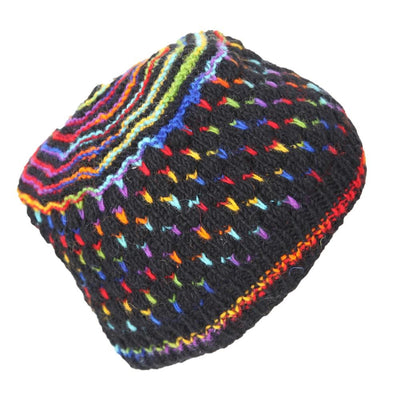 Rainbow Fleck Knitted Hat
