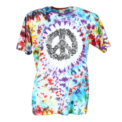 Flower Peace CND Tie Dye T-Shirt