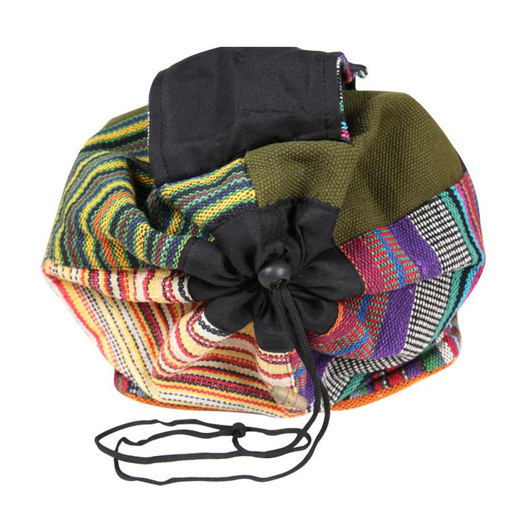 Patchwork Gheri Cotton Backpack
