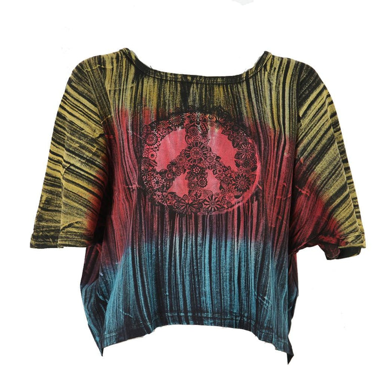 Cropped Peace Batwing Tee