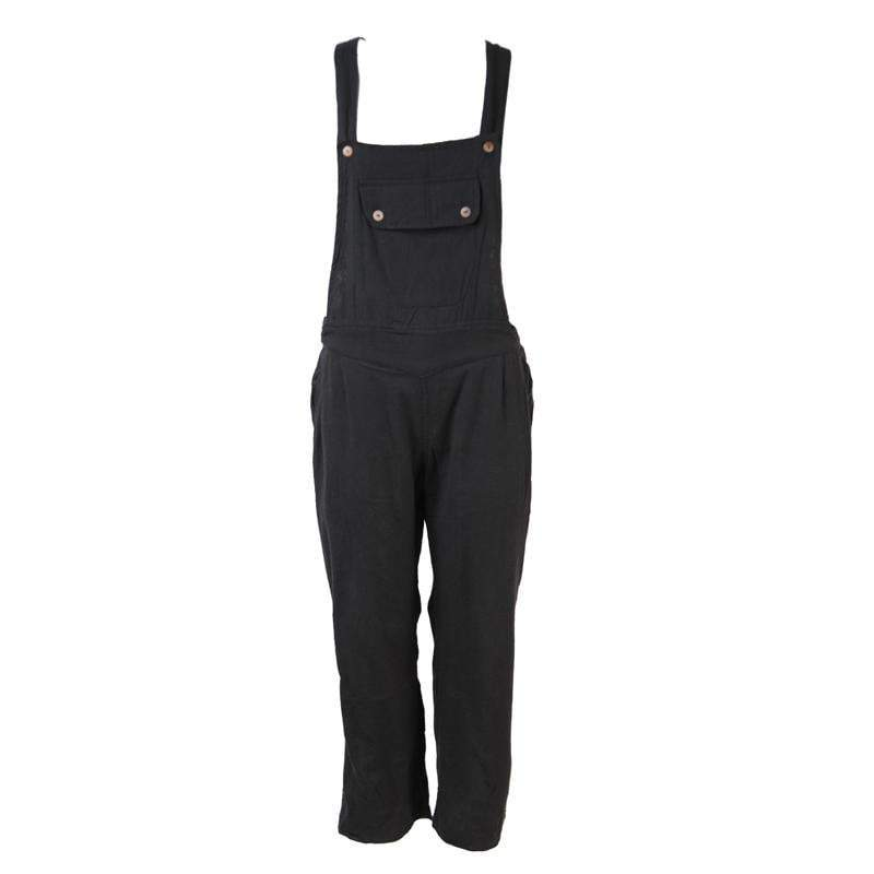 Plain Cotton Dungarees