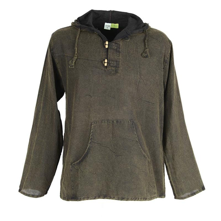 Hooded Smock Pullover