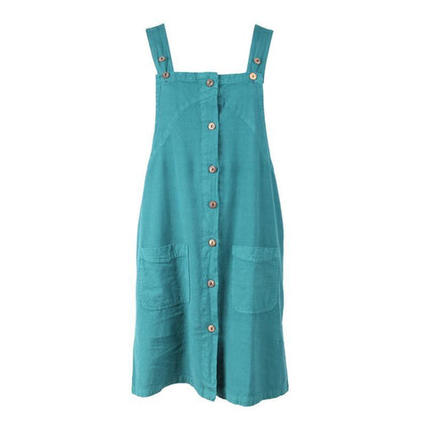 Button-Through Pinafore Dress