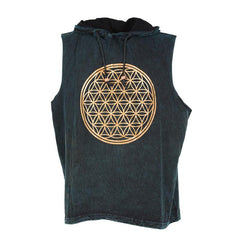 Flower Of Life Sleeveless Hoodie