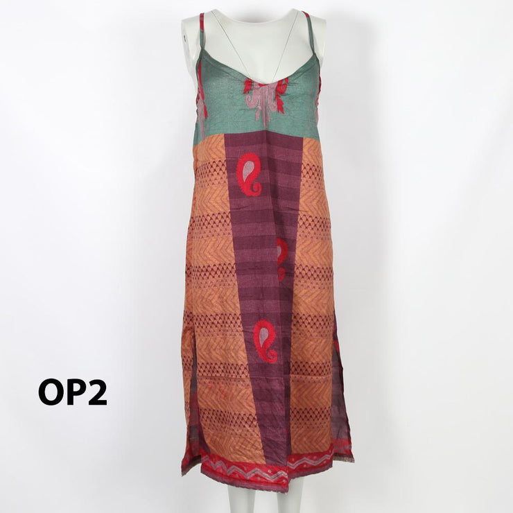 Upcycled Sari Slip Dress