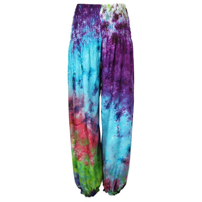 High Crotch Tie Dye Harem Pants