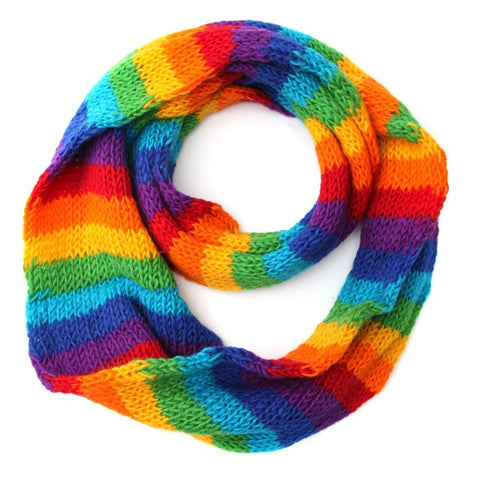 Rainbow Snood Scarf