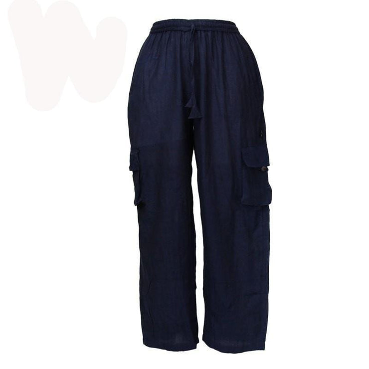 Blue Nepalese Cotton Combat Trousers