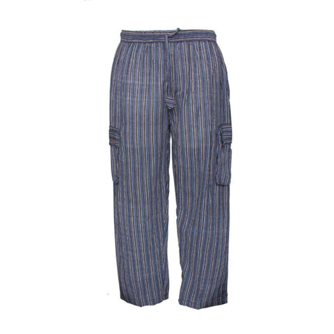 Striped Cotton Combat Trousers