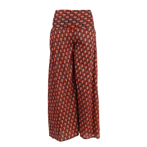 Peacock Print Palazzo Trousers