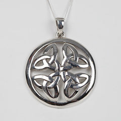 Sterling Silver Trinity Shield Necklace