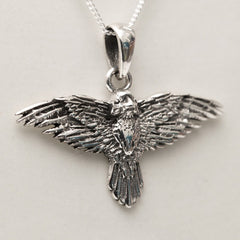 Flight Of The Raven 925 Silver Pendant