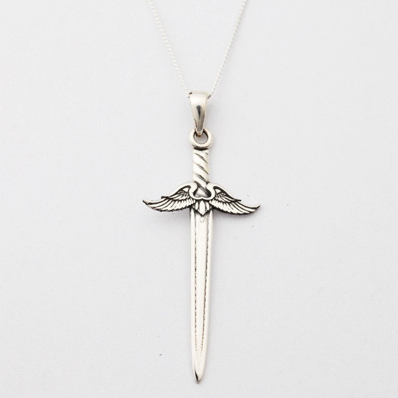 Silver sword pendant necklace the hippy clothing co silver sword pendant necklace aloadofball Images