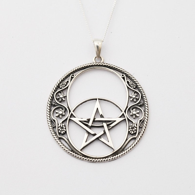 Vesica Piscis Pentacle Necklace