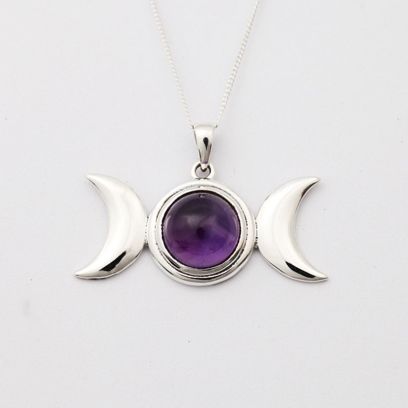 triple wish moon necklace product pendant mystic goddess mysticwish