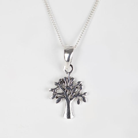 925 Silver Tree Of Life Drop Pendant