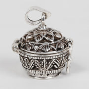 Round Sliver Prayer Box Pendant