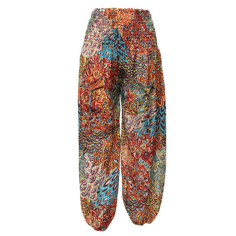 Paisley Leaf Pattern Harem Trousers