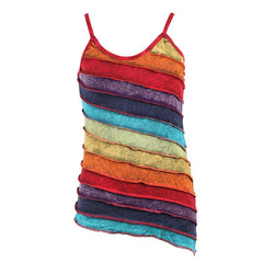 Asymmetric Rainbow Acid Wash Cami