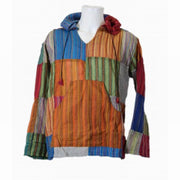 Patchwork Shirt, With Hood & Kangaroo Pouch