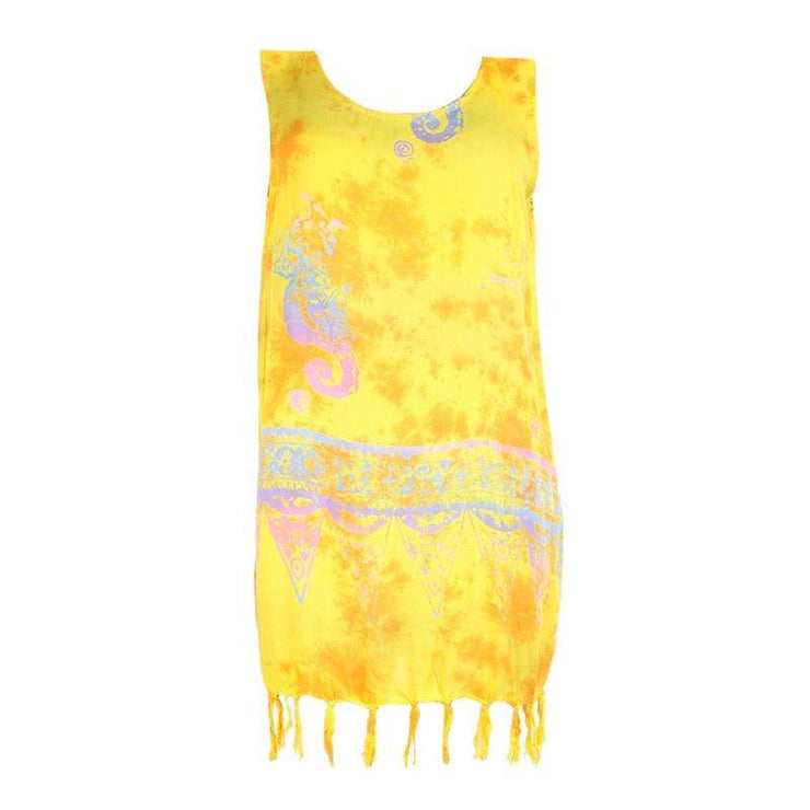Tie Dye Batik Beach Dress