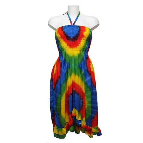 Rainbow Halterneck Bandeau Dress