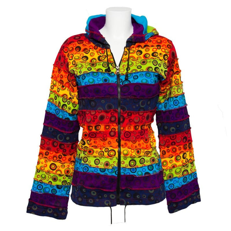 Hooded Top - Rainbow & Circle Patches