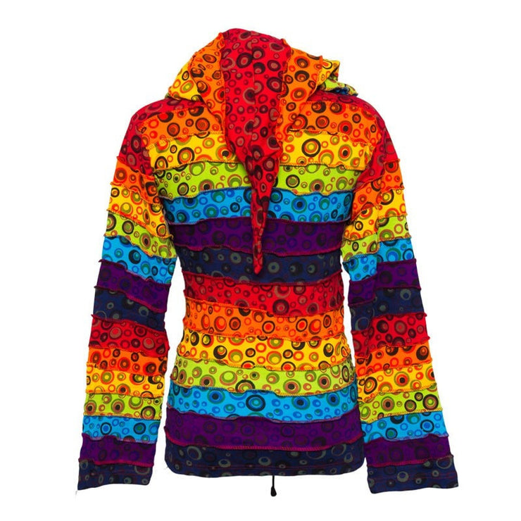 Hooded Top - Rainbow & Circle Patches - Back