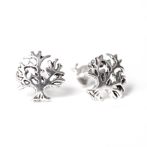 Tree of Life 925 Silver Ear Studs