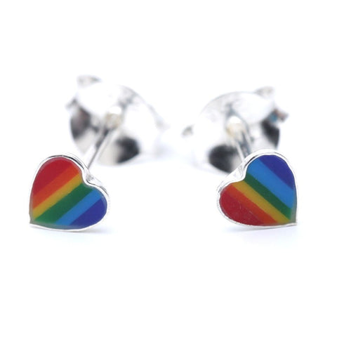Rainbow Heart Ear Studs