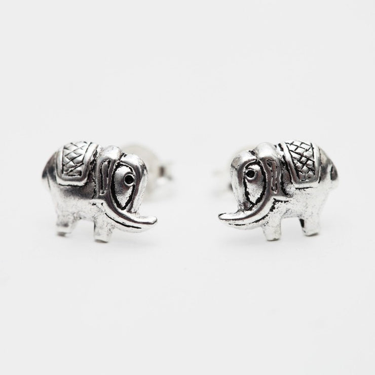 Indian Elephant Silver Studs