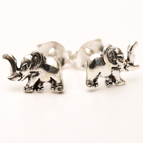 Elephant Sterling Silver Ear Studs