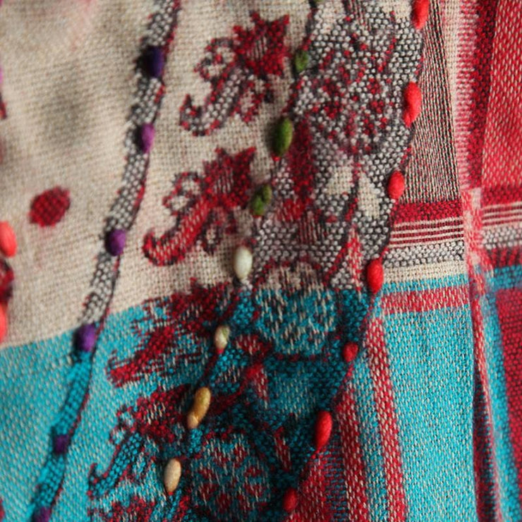 Embroidered Blanket Scarf