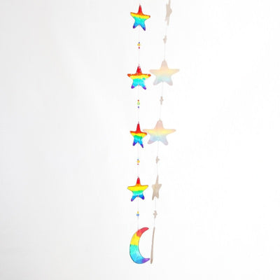 Rainbow Moon & Star Suncatcher