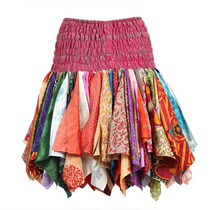 Upcycled Mini Hanky Skirt