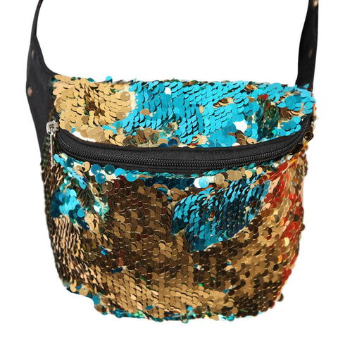 Two Tone Sequin Bum Bag