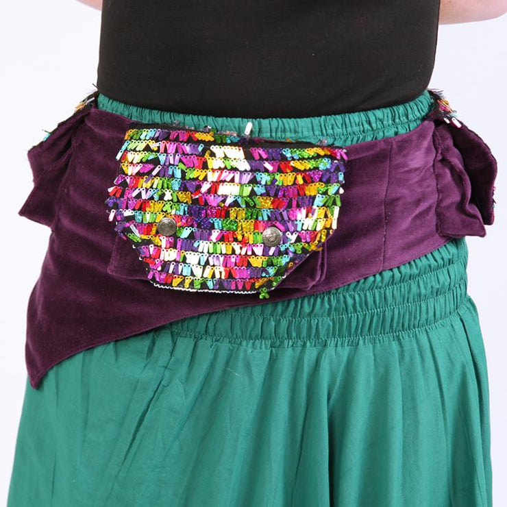 Velvet Sequin Utility Belt