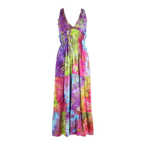 Tie Dye Halter Neck Maxi Dress