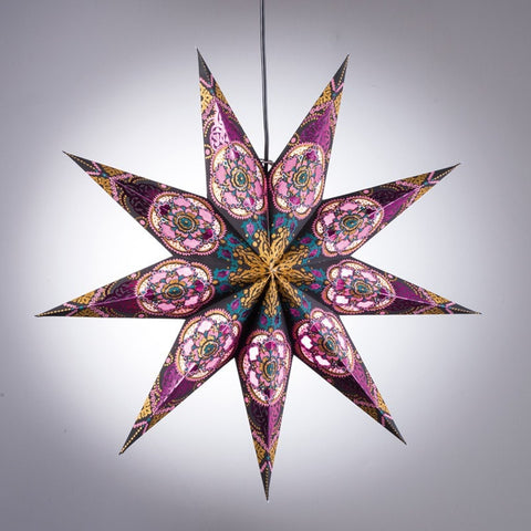 Purple Star Paper Light Shade